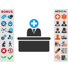 Medical Bureaucrat Icon vector