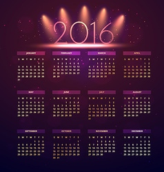 New year calender vector