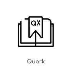 Outline quark icon isolated black simple line vector