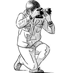 photographer work vector image