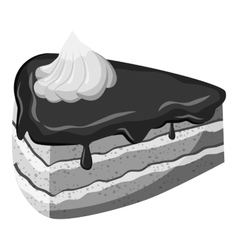Piece of cake icon gray monochrome style vector image