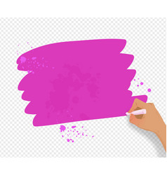 pink banner with paint splashes vector image