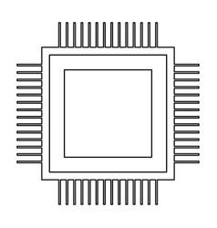 Processor the black color icon vector