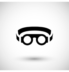 Protective welding goggles icon vector