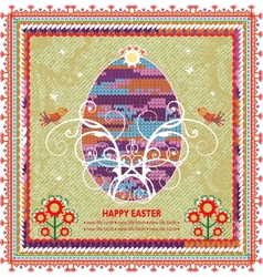 Retro Easter background In Folk Style vector