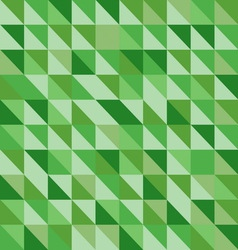 Retro triangle pattern with green background vector