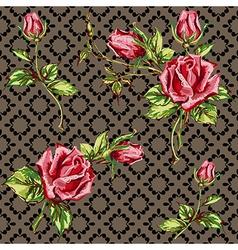 Rose pattern on motley vector