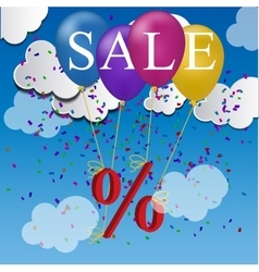 Sale balloon discount concept vector