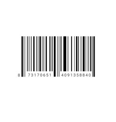 Sample bar code for scanning icon vector