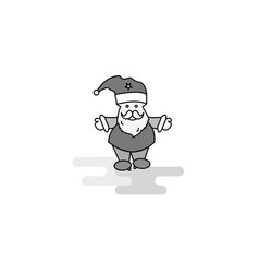 santa clause web icon flat line filled gray icon vector image
