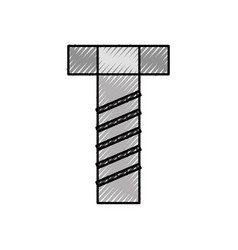 screw tool accessory adjustable construction icon vector image