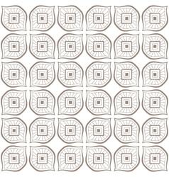 Seamless hand drawn beige zenart pattern vector