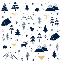 seamless pattern with christmas postcard vector image