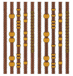 Set colored seamless patterns with dreadlocks vector