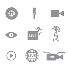 Set of live technology icons concept vector