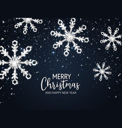 Silver snowflakes christmas background with vector