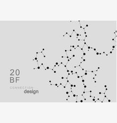 Smart abstract connected mesh molecule design vector