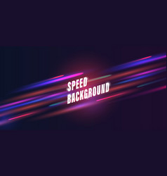 speed background abstract with glowing color lines vector image