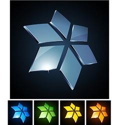 Star vibrant emblems vector