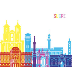 sucre skyline pop vector image