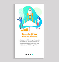 tools for growing your business startup rocket vector image