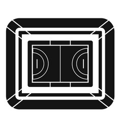 top view sport field icon simple style vector image