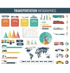Transportation Infographics set Individual and vector image vector image