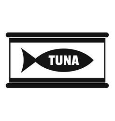 Tuna tin can icon simple style vector