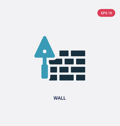 two color wall icon from real estate concept vector image