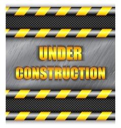 Under construction background with copy space vector image