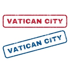 Vatican city rubber stamps vector