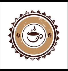 Vintage coffee circle image vector