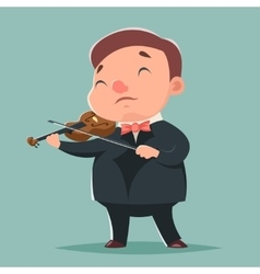 Violin Music Artist Concept Character Icon Cartoon vector image