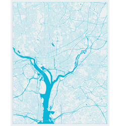 Washington dc district columbia us city map in vector
