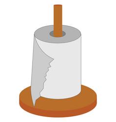 White napkins on white background vector