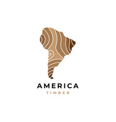wood logo with map symbol graphic design te vector image
