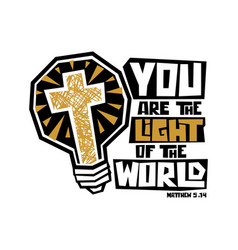 you are light world vector image