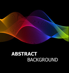 abstract colourful lines wave background vector image vector image