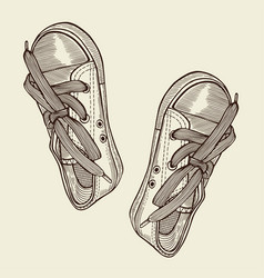 black sports sneakers vector image