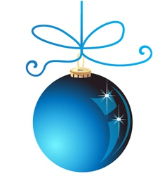Blue Christmas ball decoration vector image vector image