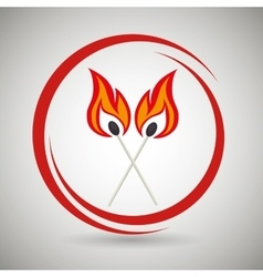 match flame danger icon vector image