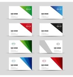 Modern business card template set vector