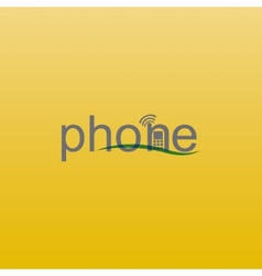 phone spelling vector image vector image