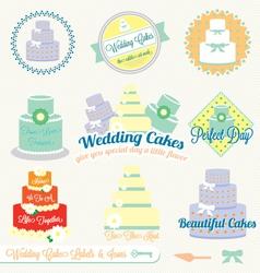 Wedding Cake Labels vector image