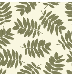 ash leaves seamless background for your design vector image vector image