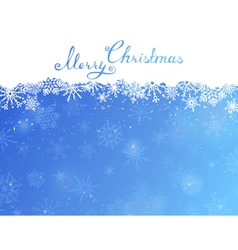 Blue Christmas background with hand-written text vector image vector image