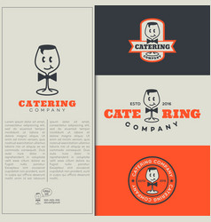 catering logo vector image vector image