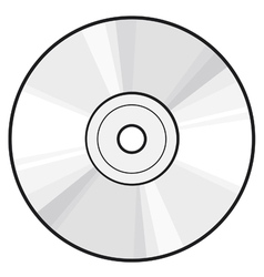 CD or DVD disc vector image vector image