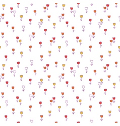 Cute floral seamless pattern with Background with vector image vector image