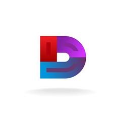 D letter logo vector image vector image